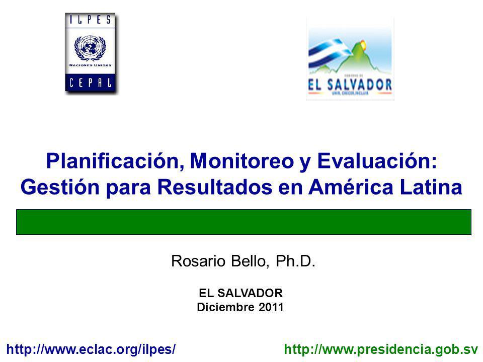 Planificación, Monitoreo y Evaluación: Gestión para Resultados en América Latina