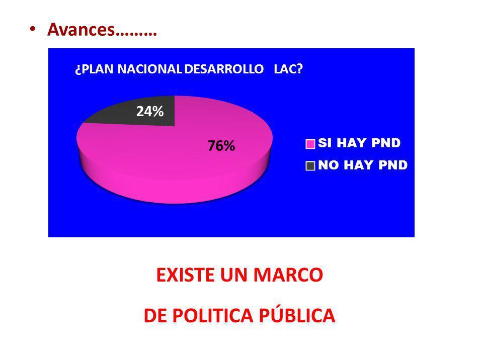 EXISTE UN MARCO DE POLITICA PÚBLICA