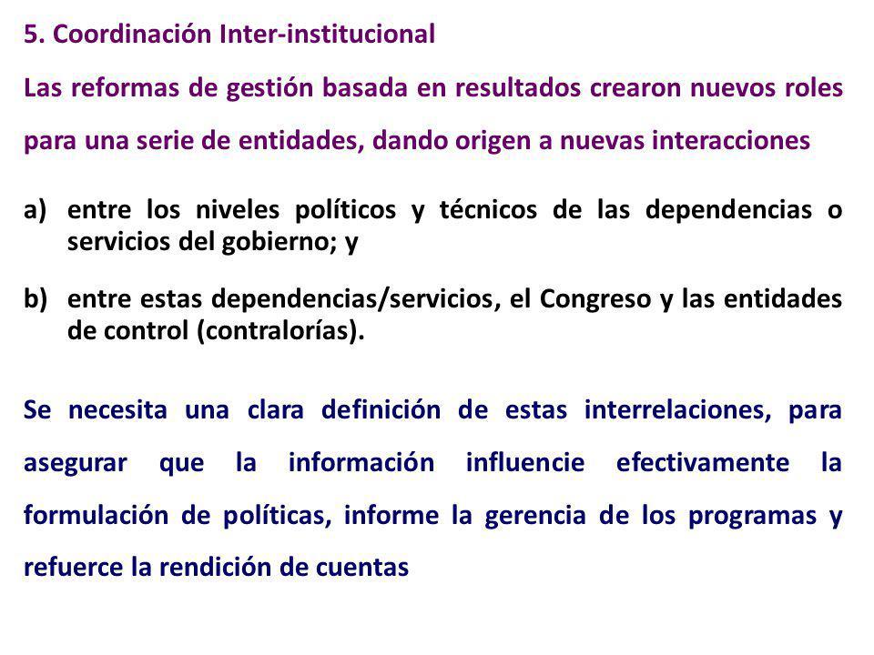 5. Coordinación Inter-institucional