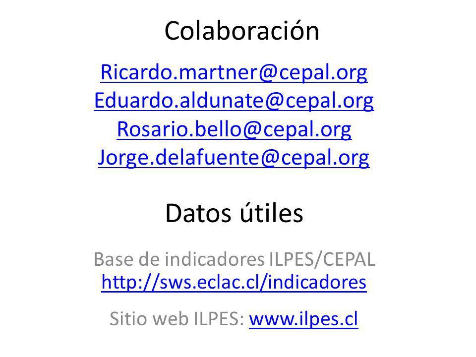 Colaboración Datos útiles Ricardo.martner@cepal.org