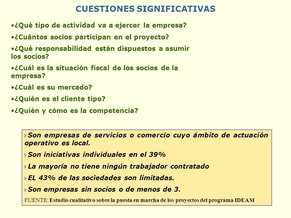CUESTIONES SIGNIFICATIVAS