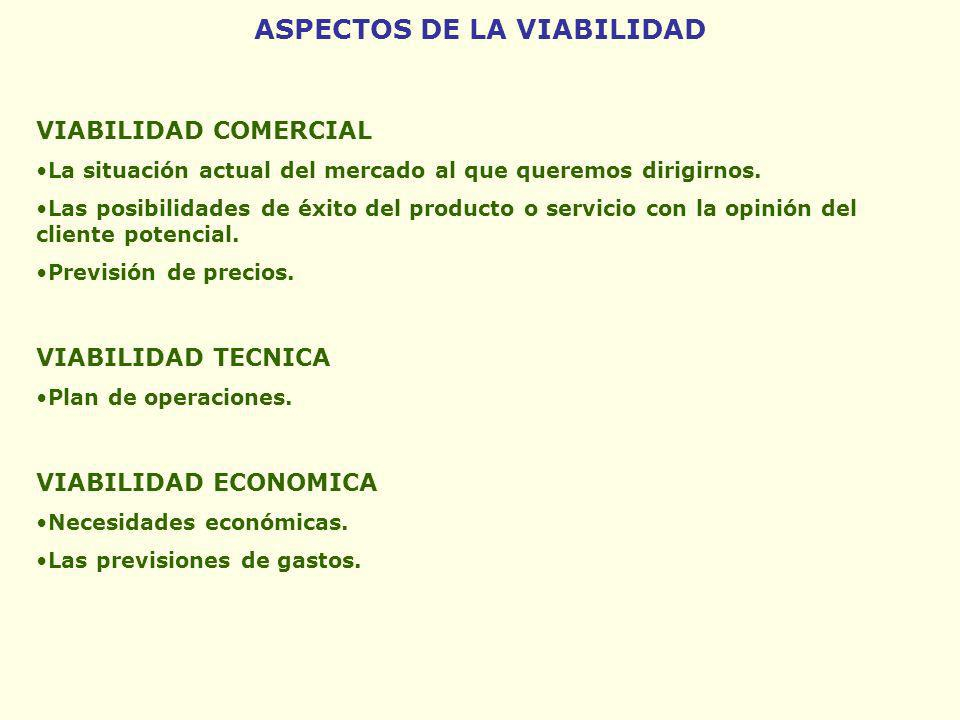 ASPECTOS DE LA VIABILIDAD