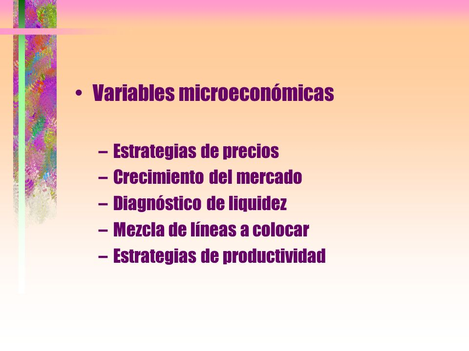 Variables microeconómicas