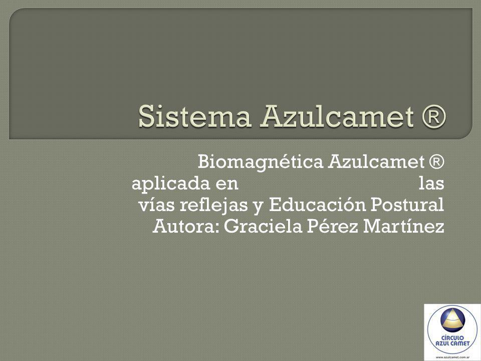 Sistema Azulcamet ® Biomagnética Azulcamet ® aplicada en las vías reflejas y Educación Postural.