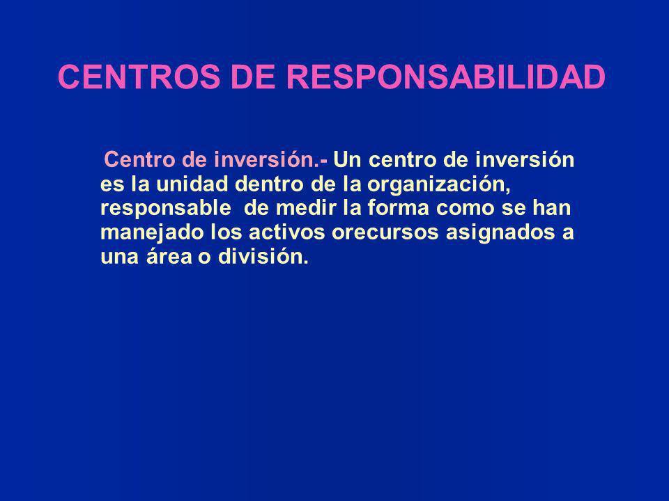 CENTROS DE RESPONSABILIDAD