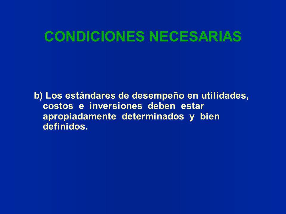CONDICIONES NECESARIAS