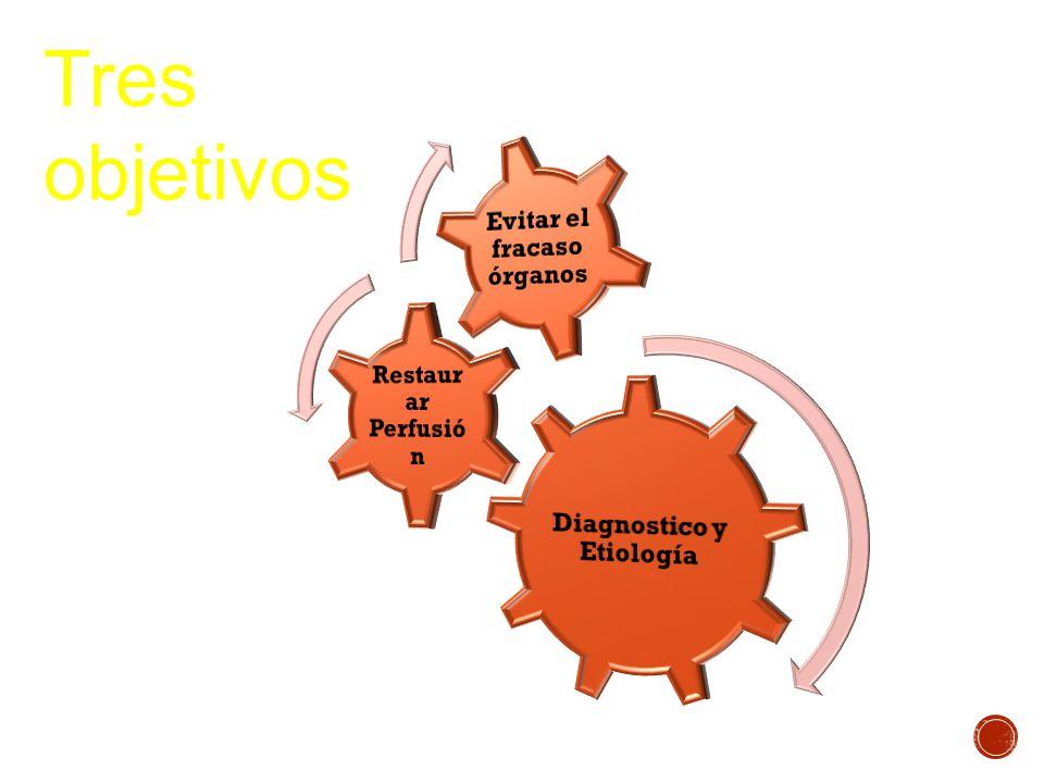 Diagnostico y Etiología Evitar el fracaso órganos