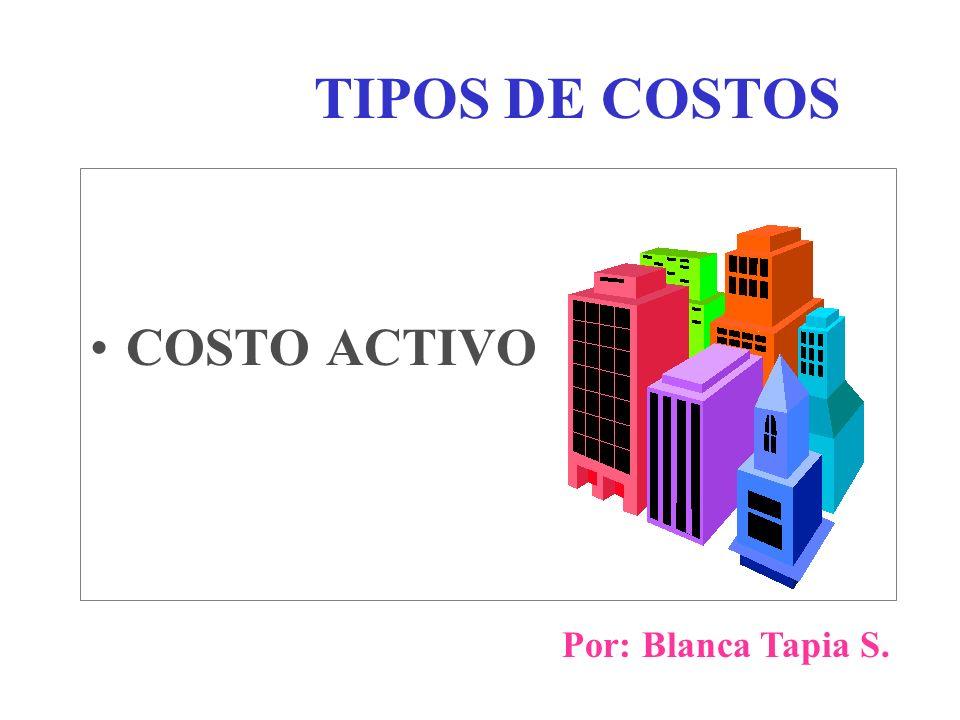 TIPOS DE COSTOS COSTO ACTIVO Por: Blanca Tapia S.