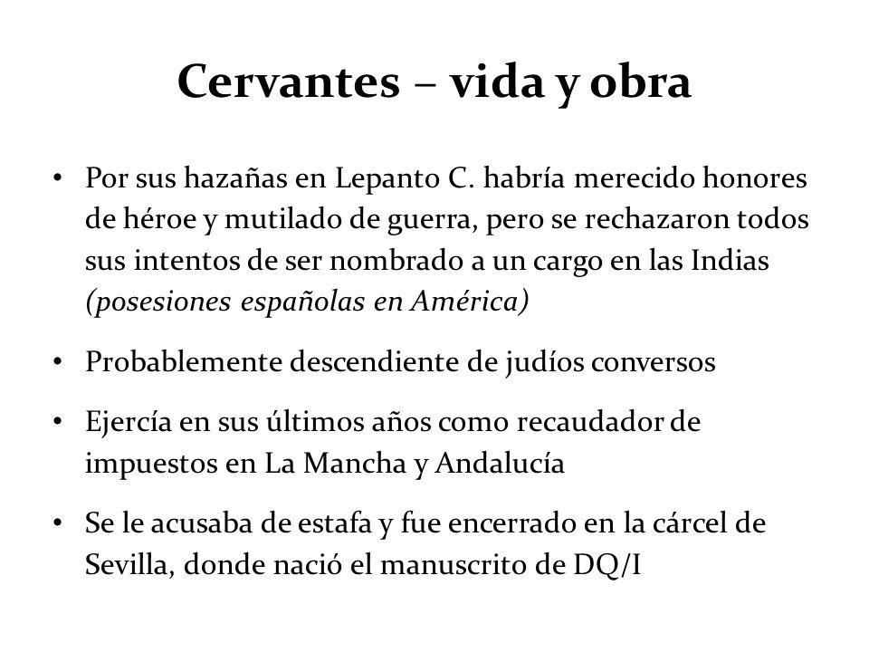 Cervantes – vida y obra