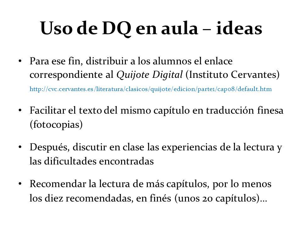 Uso de DQ en aula – ideas