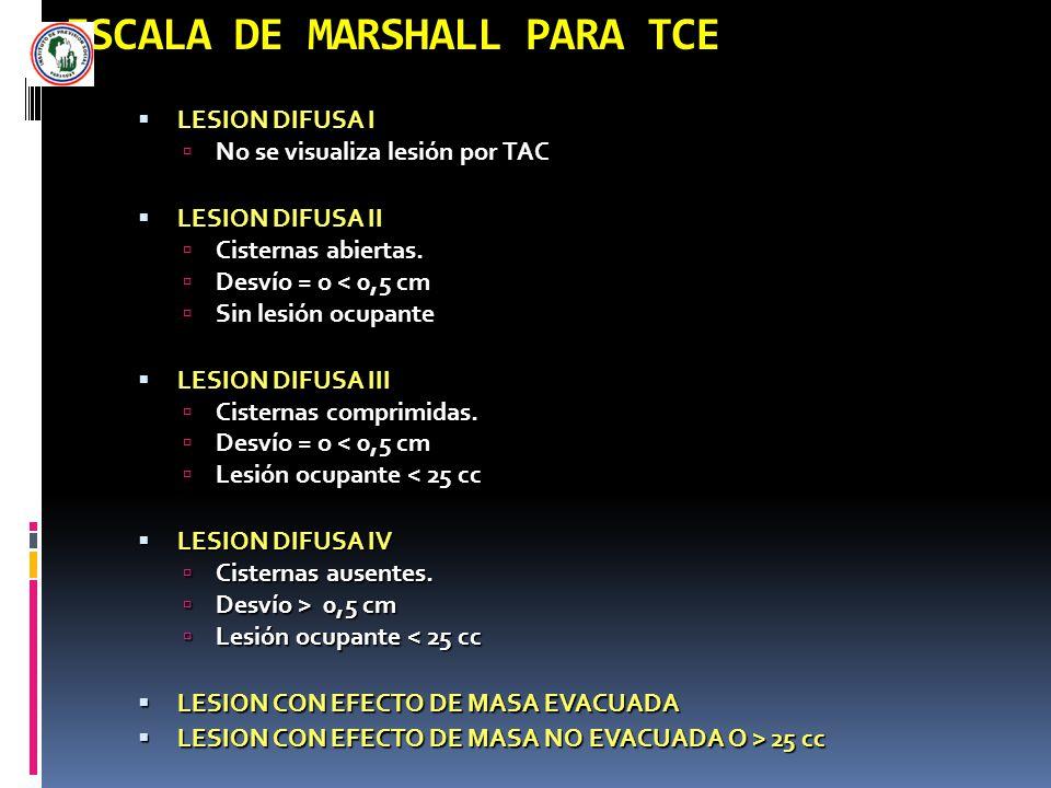 ESCALA DE MARSHALL PARA TCE