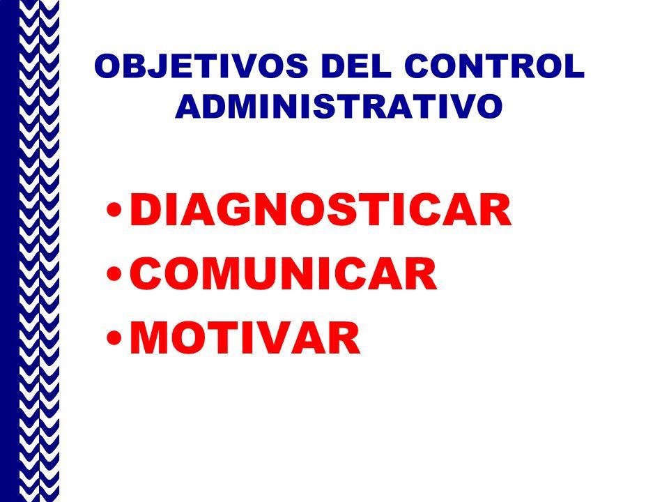 OBJETIVOS DEL CONTROL ADMINISTRATIVO
