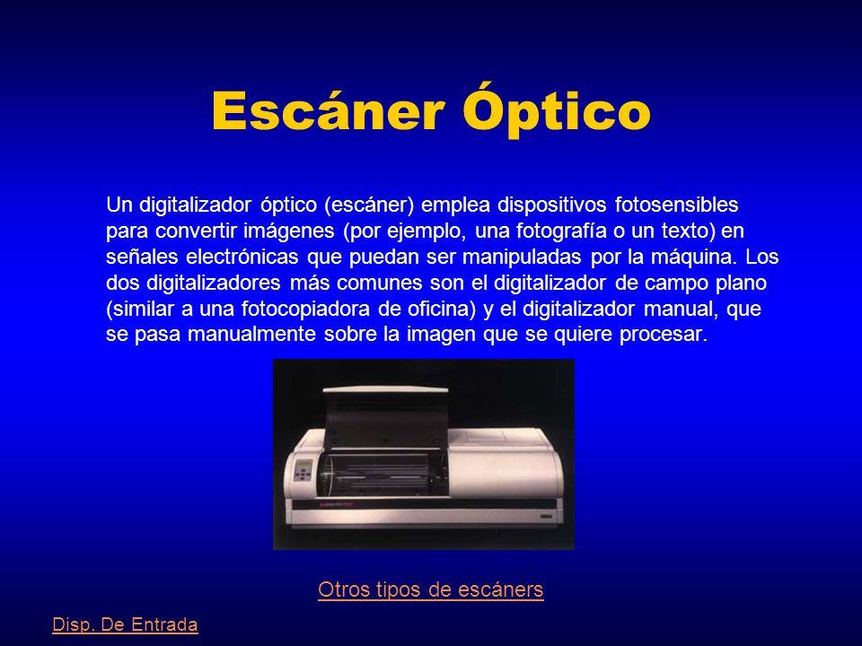 Otros tipos de escáners