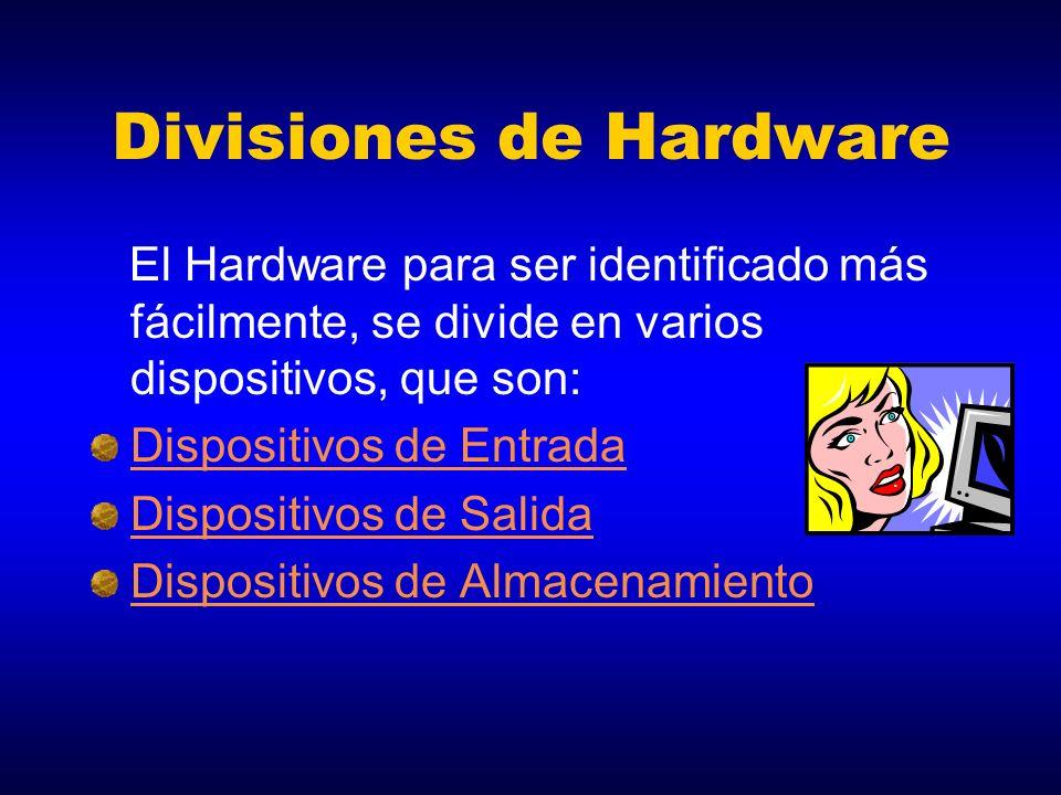Divisiones de Hardware