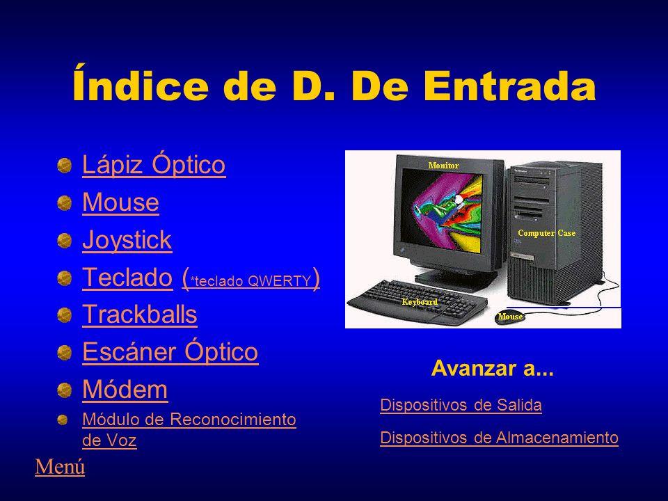 Índice de D. De Entrada Lápiz Óptico Mouse Joystick