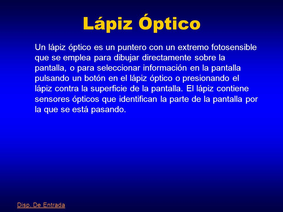 Lápiz Óptico
