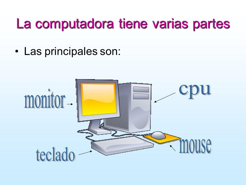 La computadora tiene varias partes