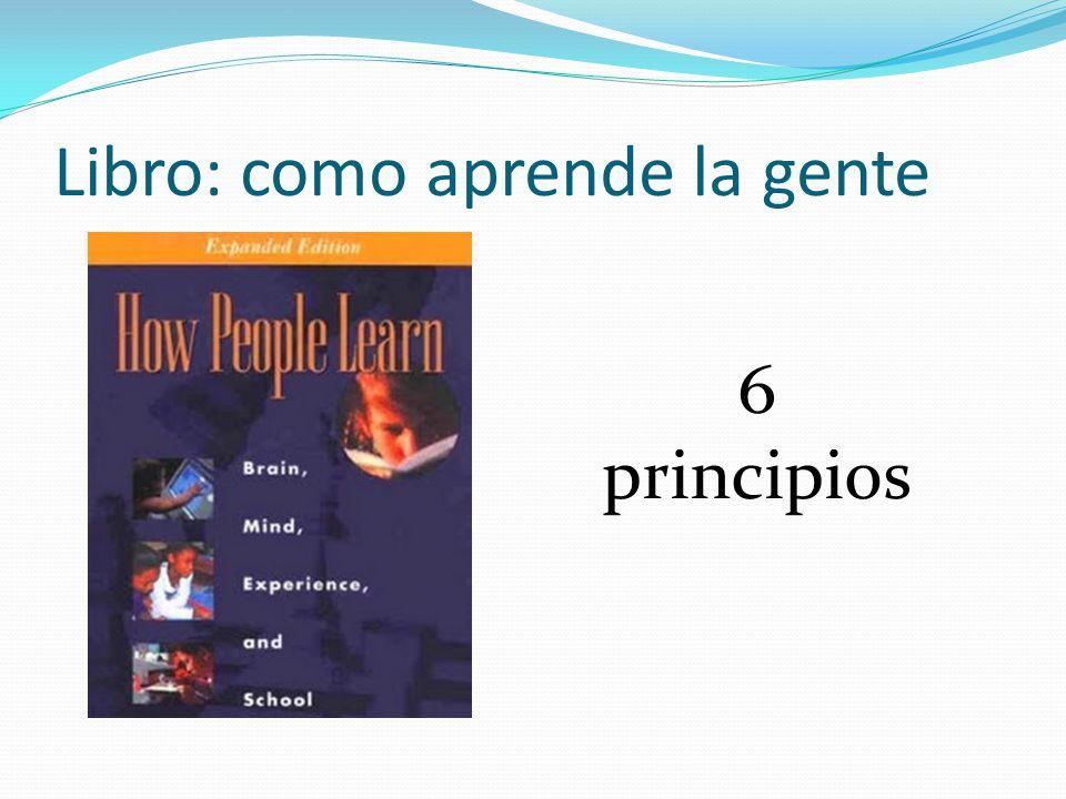 Libro: como aprende la gente