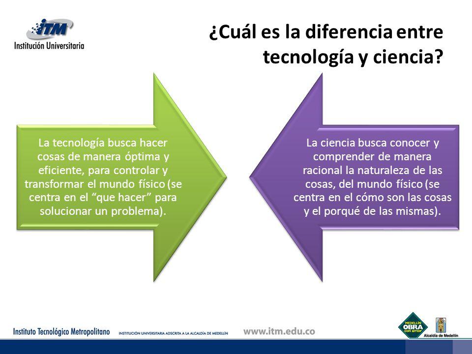 ¿Cuál es la diferencia entre tecnología y ciencia
