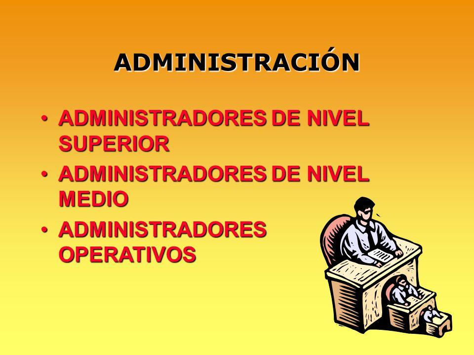 ADMINISTRACIÓN ADMINISTRADORES DE NIVEL SUPERIOR