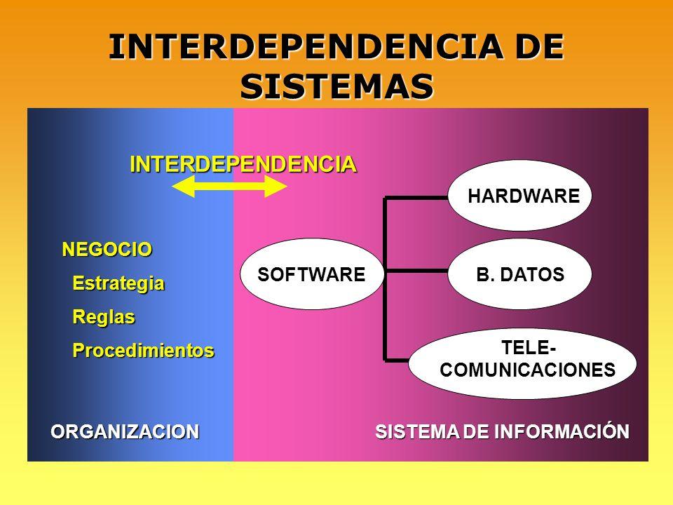 INTERDEPENDENCIA DE SISTEMAS
