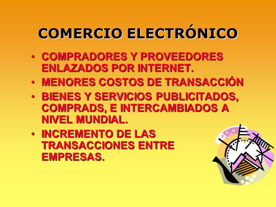 COMERCIO ELECTRÓNICO COMPRADORES Y PROVEEDORES ENLAZADOS POR INTERNET.