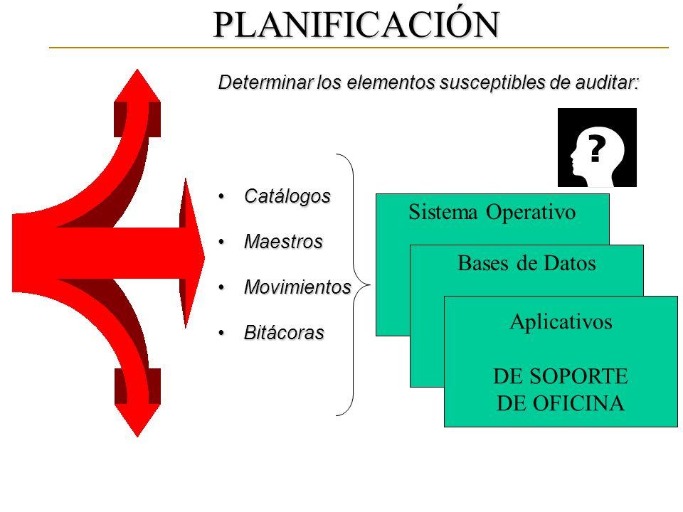 PLANIFICACIÓN Sistema Operativo Bases de Datos Aplicativos DE SOPORTE
