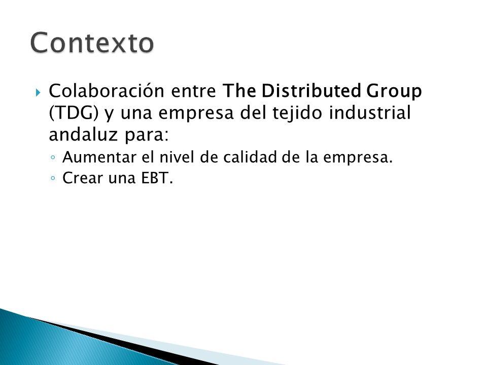 Contexto Colaboración entre The Distributed Group (TDG) y una empresa del tejido industrial andaluz para:
