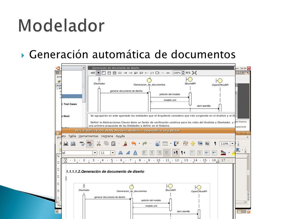 Modelador Generación automática de documentos