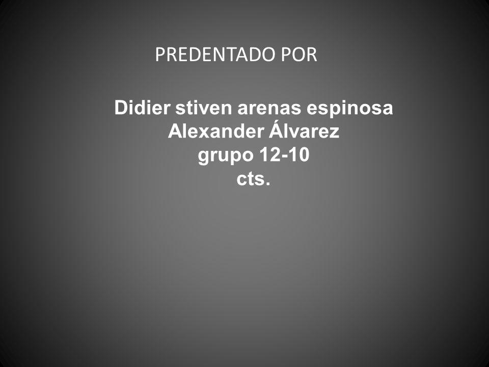 Didier stiven arenas espinosa Alexander Álvarez grupo 12-10 cts.