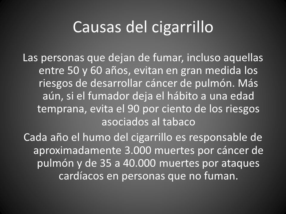 Causas del cigarrillo