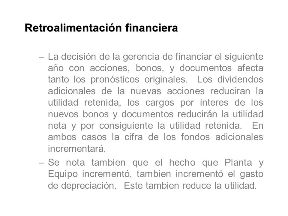 Retroalimentación financiera