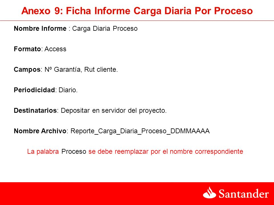 Anexo 9: Ficha Informe Carga Diaria Por Proceso