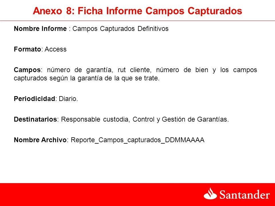 Anexo 8: Ficha Informe Campos Capturados
