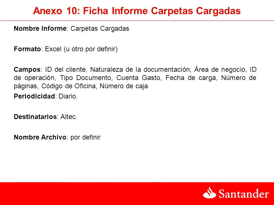 Anexo 10: Ficha Informe Carpetas Cargadas