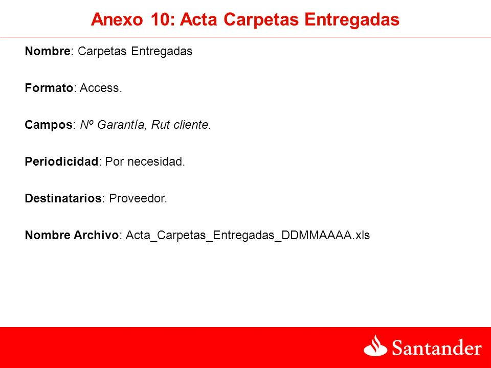 Anexo 10: Acta Carpetas Entregadas