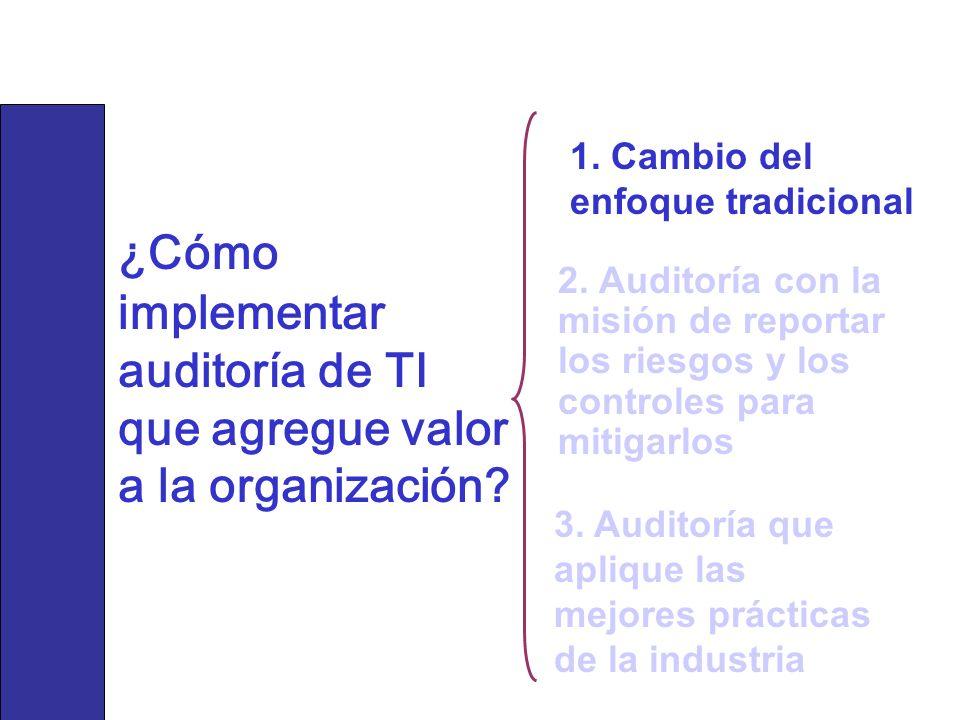 ¿Cómo Implementar Auditoría de TI que Agregue Valor a la ...