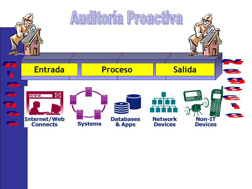 Negocio Riesgos Auditoría Proactiva Entrada Proceso Salida