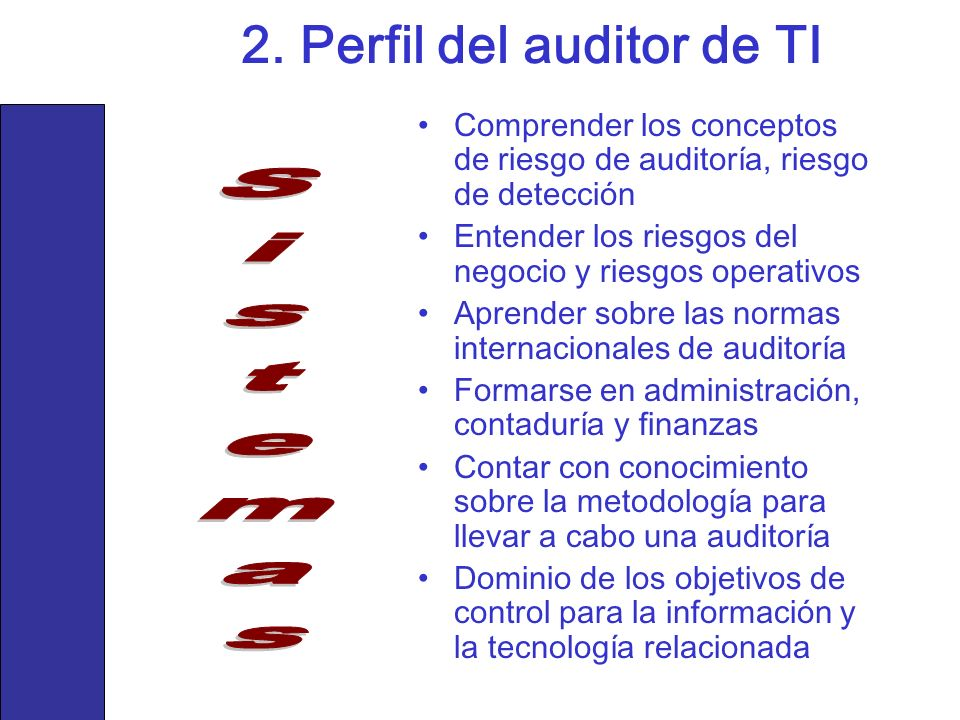 2. Perfil del auditor de TI