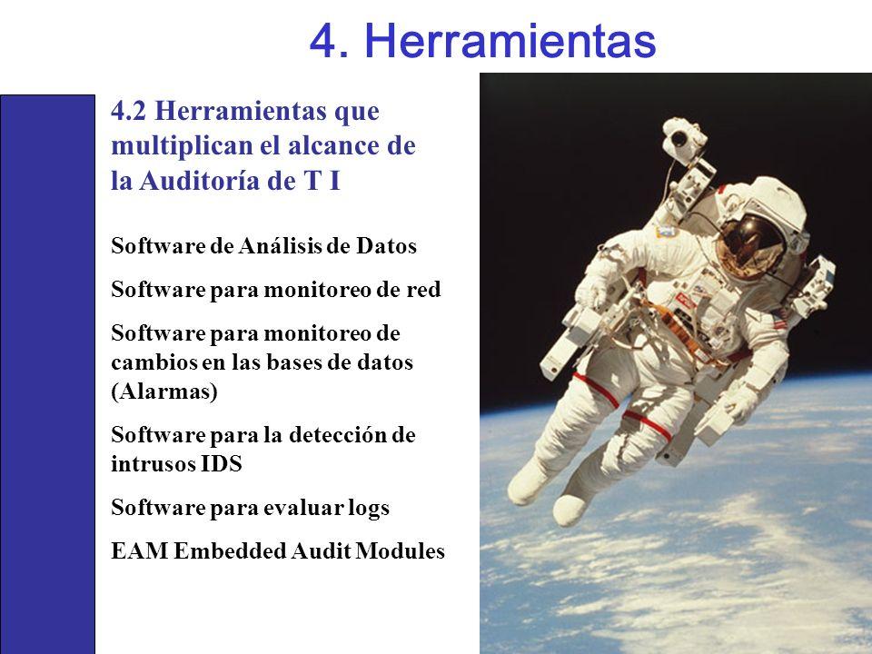 4. Herramientas4.2 Herramientas que multiplican el alcance de la Auditoría de T I. Software de Análisis de Datos.