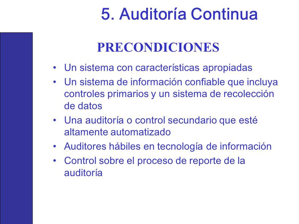 5. Auditoría Continua PRECONDICIONES