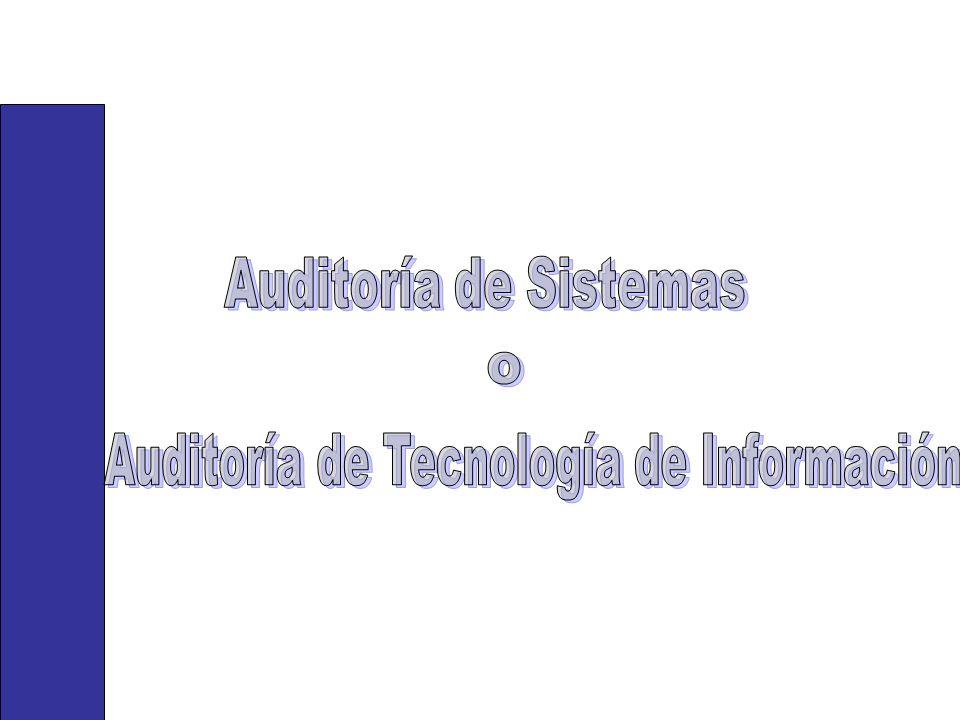 Auditoría de Tecnología de Información