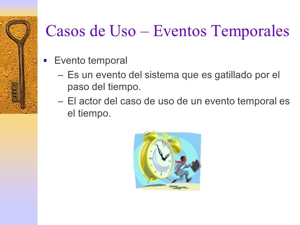 Casos de Uso – Eventos Temporales