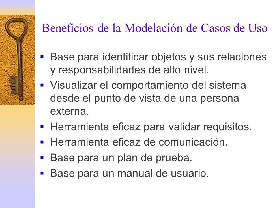 Beneficios de la Modelación de Casos de Uso