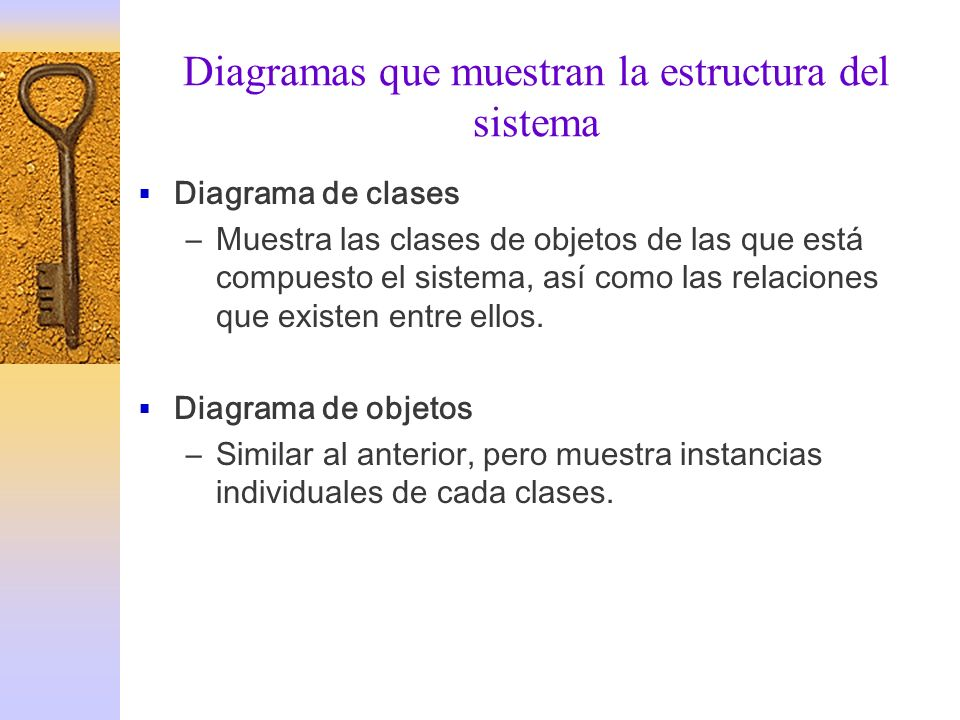 Diagramas que muestran la estructura del sistema