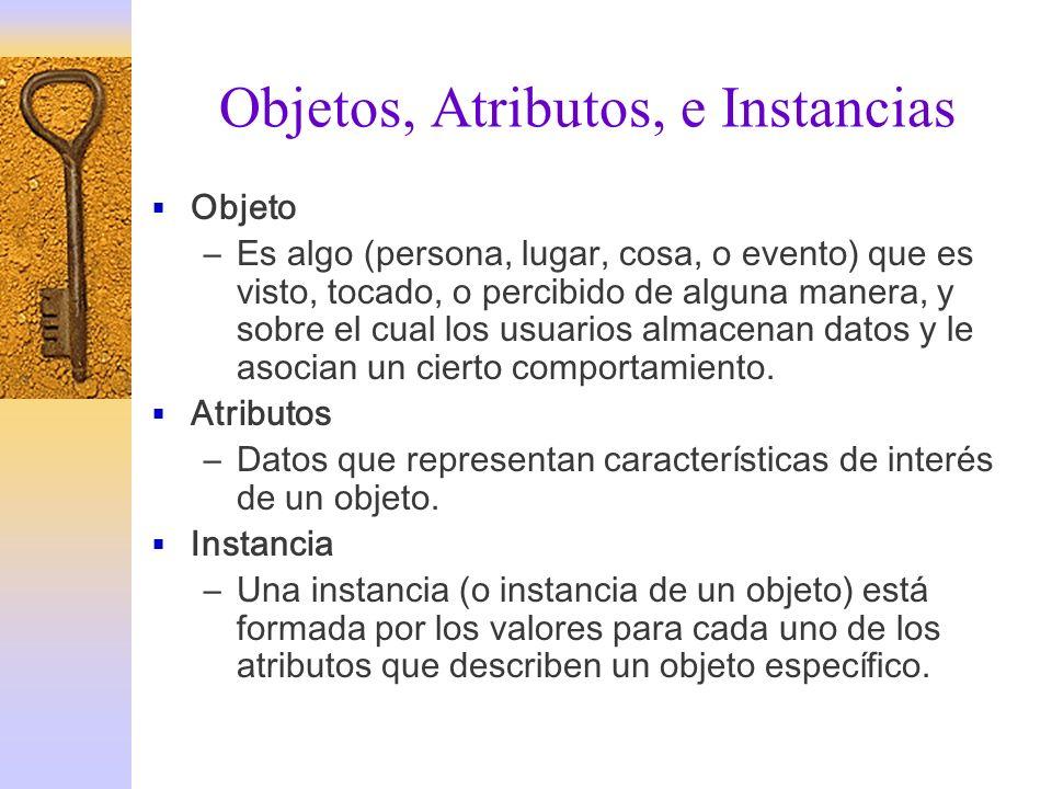 Objetos, Atributos, e Instancias