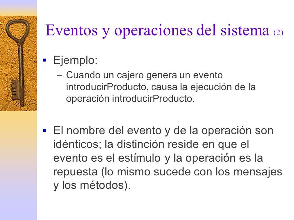 Eventos y operaciones del sistema (2)