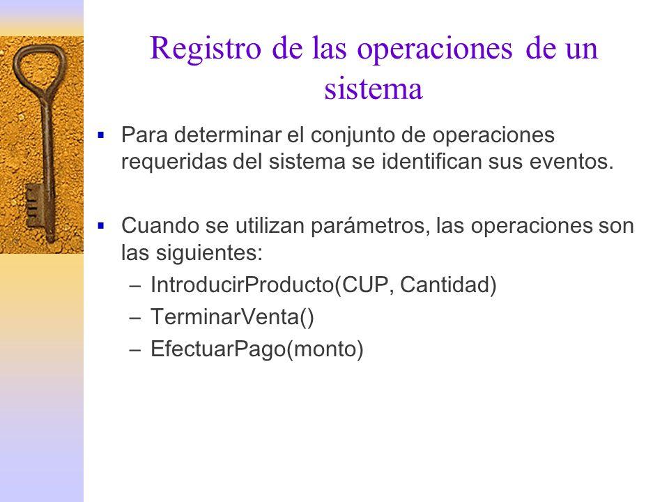 Registro de las operaciones de un sistema
