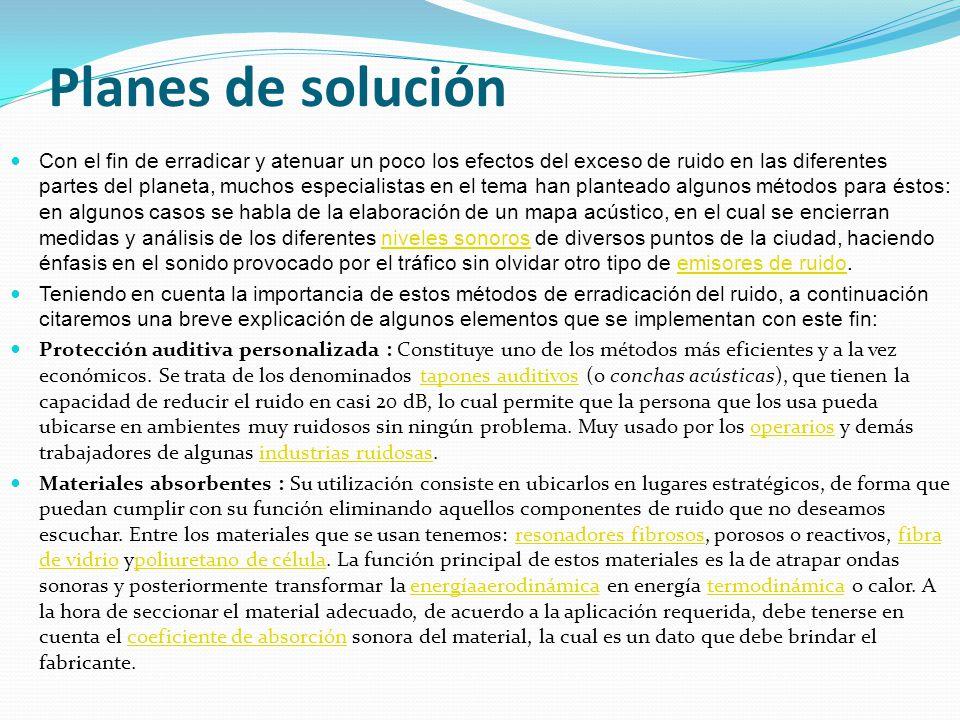 Planes de solución
