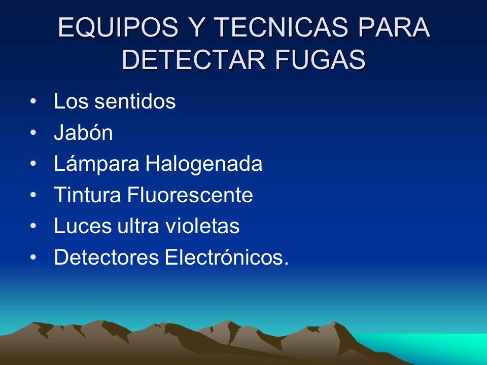 EQUIPOS Y TECNICAS PARA DETECTAR FUGAS